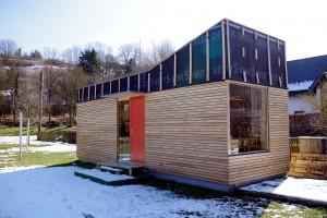"""Auch die """"WoodCabin"""" des Glehner Architekten Michael Danke könnte zur Unterbringung von Flüchtlingen genutzt werden. Foto: Johannes Mager/pp/Agentur ProfiPress"""