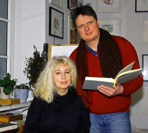 Die Schleidener Künstlerin Maf Räderscheidt und der Journalist Stephan Everling werden im Werkstattgespräch mit Autorin Ute Bales in das Leben der berühmten Dada-Künstlerin Angelika Hoerle eintauchen. Foto: Privat