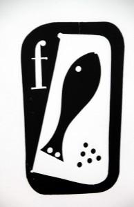 """""""Der Fisch"""" ist die Reproduktion einer Zeichnung von Angelika Hoerle, die im Simonskaller Junkerhaus ausgestellt ist. Foto: Claudia Hoffmann/pp/Agentur Profi Press"""