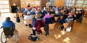Rund 50 Besucher waren zur Lit.Eifel-Veranstaltung im Naturzentrum Nettersheim gekommen. Foto: Jochen Starke/pp/Agentur ProfiPress
