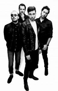 """Die limburgischen Rocker von The Sore Losers stellen bei einer Try-Out Show im Alten Schlachthof in Eupen ihr drittes Album """"Skydogs"""" vor. Foto: Toon Aerts/pp/Agentur ProfiPress"""