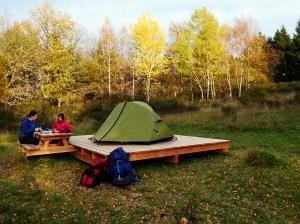 Das Projekt Eifel-Trekking ermöglicht das Zelten in freier Natur als ein einzigartiges Angebot in Deutschland. Foto: Naturpark Nordeifel/pp/Agentur ProfiPress