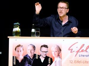 """Wieder eine """"Sternstunde für Leser"""" beim Eifel-Literatur-Festival: Jan Weiler in Bitburg. Foto: Helmut Gassen/ELF/pp/Agentur ProfiPress"""