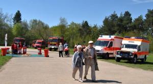 Feuerwehr Schleiden, DRK-Bergwacht und andere Einsatzdienste zeigten ihre Fahrzeuge. Foto: Renate Hotse/pp/Agentur ProfiPress