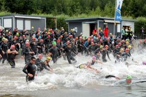 1.300 Teilnehmer werden für den 9. Indeland-Triathlon am Sonntag, 19. Juni in Aldenhoven erwartet. Foto: MMP/pp/Agentur ProfiPress