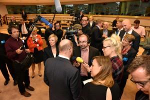"""""""Wir sollten mit Tihange 2 in dieser Form nicht leben müssen"""", sagte EU-Parlamentspräsident Martin Schulz im Interview mit zahlreichen Journalisten. Foto: Andreas Herrmann/Städteregion Aachen/pp/Agentur ProfiPress"""