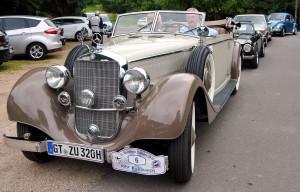 Auffällig elegant war das Mercedes 320 Cabrio B, Baujahr 1938. Foto: Renate Hotse/pp/Agentur ProfiPress