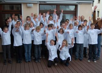 Ein Teil der ersten Gruppe der Europa-Miniköche EIFEL - Treffen im Oktober 2009 in Steffeln