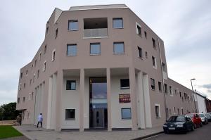 """Die Euskirchener gemeinnützige Baugesellschaft (Eugebau) hat das Gebäude """"City Süd"""" errichtet. Foto: Manfred Lang/pp/Agentur ProfiPress"""