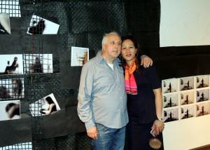 Bei der Vernissage in Koblenz zeigte sich der in Bürvenich und Shanghai lebende Künstler Rolf A. Kluenter mit Ehefrau Kathy. Foto: Antonie Schweitzer/pr cologne/pp/Agentur ProfiPress