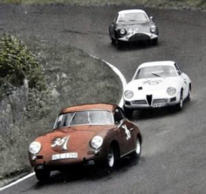 Stets ganz vorne dabei: Peter Klein im roten Porsche. Repro: Reiner Züll/pp/Agentur ProfiPress
