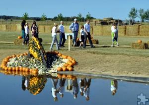 Einen ersten Rundgang unternahmen die Besucher am vergangenen Wochenende auf dem vier Hektar großen Areal. Bis zum 6. November kann die Kürbisschau besichtigt werden. Foto: Renate Hotse/pp/Agentur ProfiPress