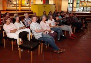 Etwa 25 Besucher hatten den Weg zu Frank Goosens Lesung ins Clara-Fey-Gymnasium in Schleiden gefunden. Foto: Thomas Schmitz/pp/Agentur ProfiPress
