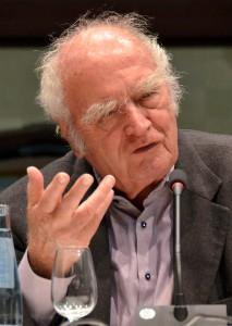 """Trotz seiner 89 Jahre las Martin Walser bei der """"Lit.Eifel 2016"""" fast eine ganze Stunde auf unnachahmliche Weise und zog seine Zuhörer in den Bann. Foto: Manfred Lang/pp/Agentur ProfiPress"""