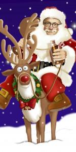 Eifel-Kabarettist Hubert vom Venn ist als humorvoller Weihnachtsbote unterwegs. Foto: Privat