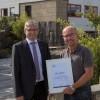 Gratulation zum 25-jährigen Firmenjubiläum der Mendiger Basalt Schmitz Naturstein GmbH & Co. KG in Mendig