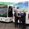 Vorstellung von 20 Bio-Erdgasbussen und Einweihung einer Bio-Methan-Tankstelle